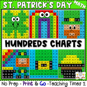 St. Patrick's Day Hundreds Charts | MATH CENTERS | MATH REVIEW