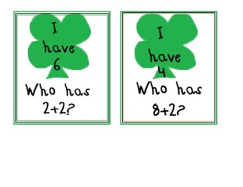 St. Patrick's Day I Have Who Has Addition