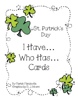 St. Patrick's Day I Have... Who Has... Cards