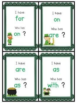St. Patrick's Day I Have...Who Has?