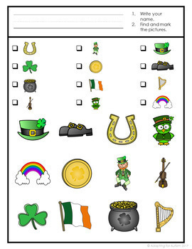 St. Patrick's Day Game: Find It adpated with 3 levels