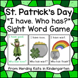 St. Patrick's Day I have Who Has? Sight Word Game