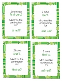 """St. Patrick's Day """"I have, who has"""" Contractions Game"""