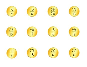 St. Patrick's Day Improper Fractions & Mixed Number Sort