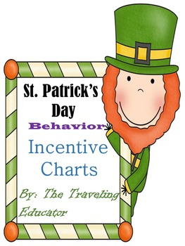 Incentive Charts with a St. Patrick's Day Theme