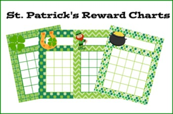 St Patrick's Day Incentive Reward Charts