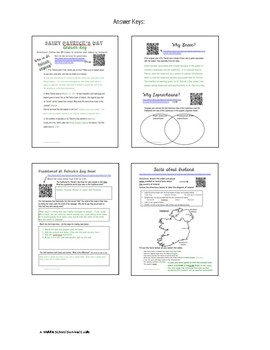 St. Patrick's Day: Research and Respond with QR Codes
