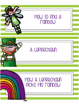 St. Patrick's Day Procedural Writing Common Core Aligned