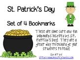 St. Patrick's Day Inspired Bookmarks!  Set of 4!