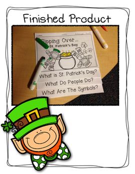 St. Patrick's Day Interactive Flip Book: Flipping Over St. Patrick's Day