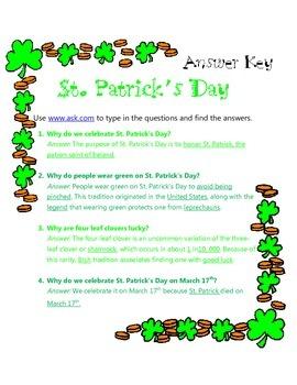St. Patrick's Day Internet Search