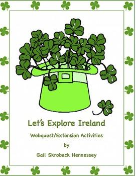 St. Patrick's Day-Ireland Webquest and Activities