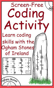 St. Patrick's Day Ireland history project learning about Ogham stones