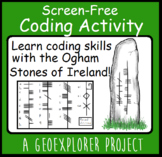 St. Patrick's Day Ireland Coding project learning about Ogham stones