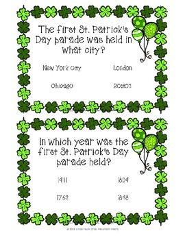 St Patricks Day Irish Trivia Boom Cards--Digital Task Cards
