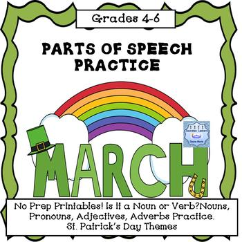 Parts of Speech for St. Patrick's Day (No Prep)