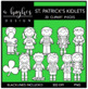 St. Patrick's Day Kidlets Clipart {A Hughes Design}