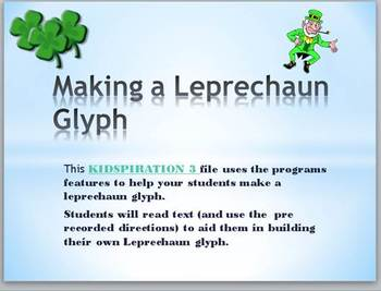 St. Patrick's Day  (Kidspiration3) Resource Pack- Common Core aligned