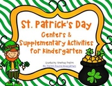 St. Patrick's Day Kindergarten Centers - Common Core Aligned