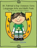 St. Patrick's Day Kindergarten Common Core Language Arts and Math Pack