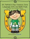 St. Patrick's Day Kindergarten Common Core Language Arts a