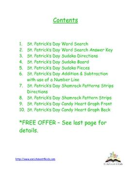 St. Patrick's Day Activity Packet Gr. K, 1, 2