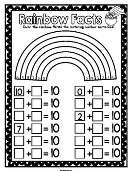 St Patrick's Day Kindergarten Math Activities Pack (Print and Go)
