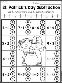 St. Patrick's Day Kindergarten Math & Literacy Bundle