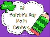 St. Patrick's Day Kindergarten Math Pack (13 CCSS Centers)