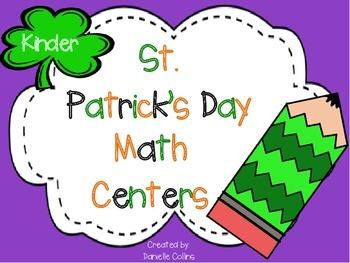St. Patrick's Day Kindergarten Math Pack (13 CCSS Centers)