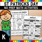 St. Patrick's Day Kindergarten Math Worksheets