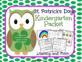 St. Patrick's Day Kindergarten Packet