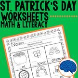 St. Patrick's Day KG  Printable Pack- Math & Literacy Skills