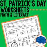 St. Patrick's Day KG  Printable Pack- Math & Literacy Skills