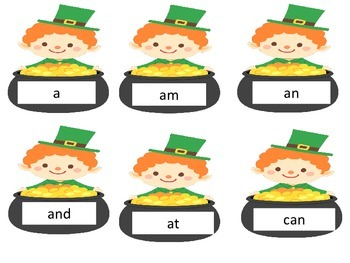 St. Patrick's Day Kindergarten Sight Word Wordle