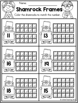 St Patrick's Day Kindergarten Worksheets Freebie by United Teaching