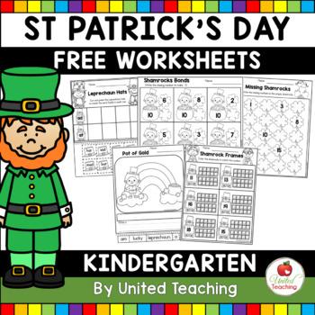 St Patrick S Day Kindergarten Worksheets Freebie By United Teaching