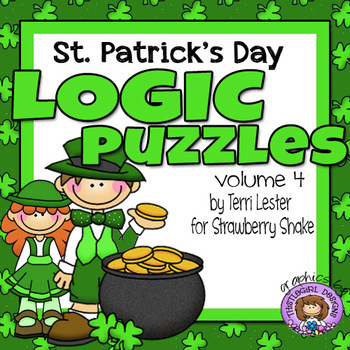 St. Patrick's Day LOGIC PUZZLES: 3 Critical Thinking Tasks with Grids and Tables
