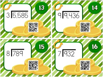 St. Patrick's Day LONG DIVISION QR Code Fun