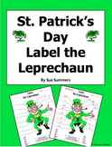 St. Patrick's Day Label the Leprechaun Body Parts Activity - ENGLISH