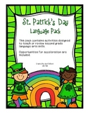St. Patrick's Day Language Activity Pack
