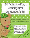 Kindergarten St. Patrick's Day Reading Centers and Lessons common core aligned