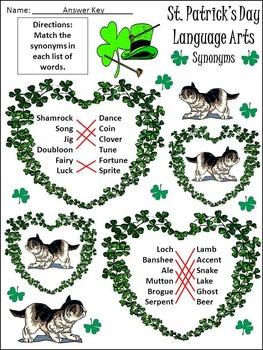 St. Patrick's Day Language Arts Activity Packet