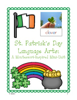 St. Patrick's Day Language Arts Centers & Printables for Kinders & Firsts