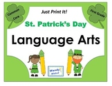 St. Patrick's Day Language Arts ELA Printables - Common Core First Grade