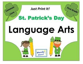 St. Patrick's Day Language Arts ELA Printables - Common Co
