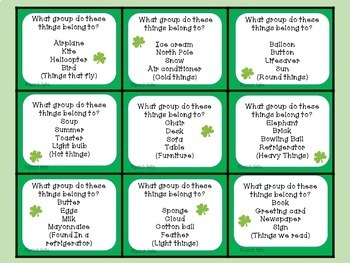 St. Patrick's Day Language Fun