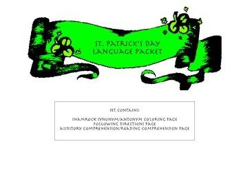 St. Patrick Antonym, Synonym, Directions