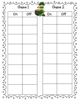 St. Patrick's Day Leapin Leprechauns Math Center Game