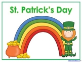 St. Patrick's Day Learning Pack - Toddler/PreK